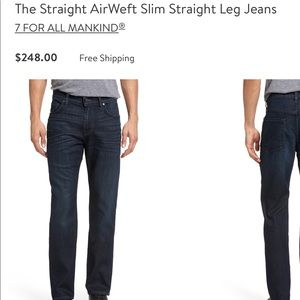 7 for all Mankind Luxe Performance Men's Jeans